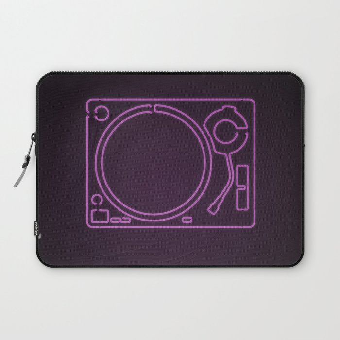 Neon Turntable 1 - 3D Art Laptop Sleeve