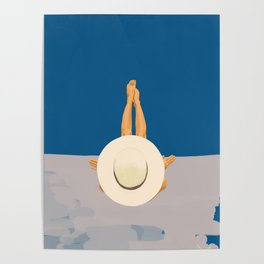 At The Ocean Poster