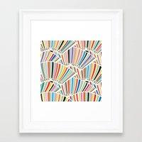 geek Framed Art Prints featuring Geek by Helene Michau