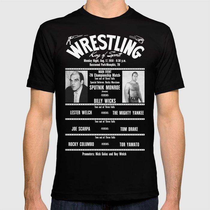 #12-B Memphis Wrestling Window Card T-shirt
