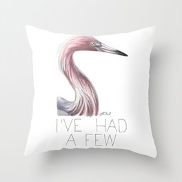 Egrets, I've Had a Few (Reddish Egret) Throw Pillow