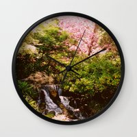 botanical Wall Clocks featuring Botanical by Tessa Ice
