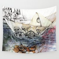 italy Wall Tapestries featuring italy dualism by Andreas Derebucha