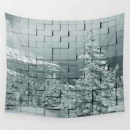 Winter collage Wall Tapestry