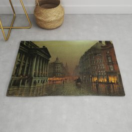 Mansion House, London, England Cityscape by Louis H. Grimshaw Rug