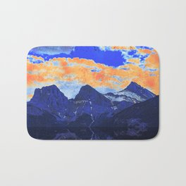 Faith - Hope - Charity - The Three Sisters Mountains, Canmore, AB, Canada Bath Mat