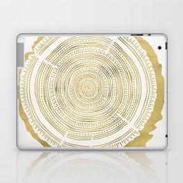 Douglas Fir – Gold Tree Rings Laptop & iPad Skin