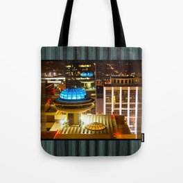 Yesterday's Future - Classic Atlanta Skyline At Night Tote Bag