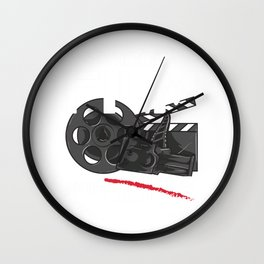 Shoot Film Not Guns Peaceful Filmmaker Director Wall Clock