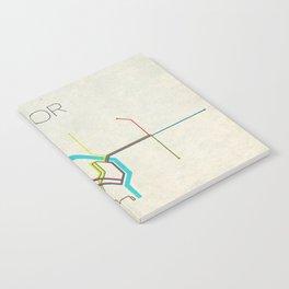 Minimal Portland, OR Metro Map Notebook