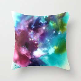 Abstract in Purple and Blue Throw Pillow