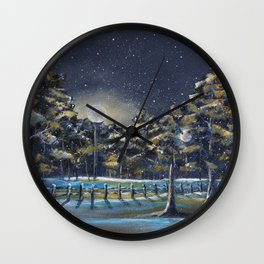 Gently The Snow Falls Wall Clock