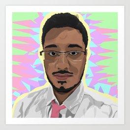 Freddie's Portrait Art Print