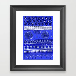 Yzor pattern 007-2 blue Framed Art Print