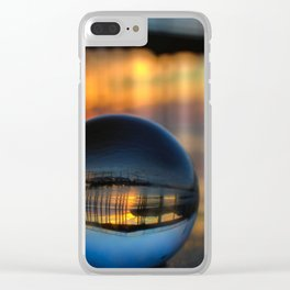 Avila Pier Captured in a crystal ball at sunrise Clear iPhone Case