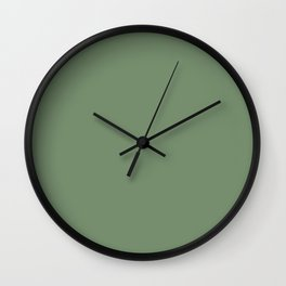 Fresh Crisp Green Solid Color Pairs with Magnolia Home's JG-08 Magnolia Green Wall Clock