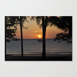 Sunset view in Playa Hermosa - Costa Rica Canvas Print