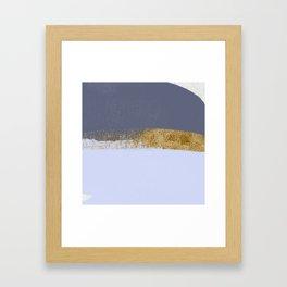 Azure and golden skies Framed Art Print