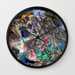 Angels and Earthworms Wall Clock