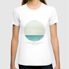 Salt Water Cure MEDIUM Womens Fitted Tee White