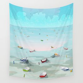 Between two waters Wall Tapestry