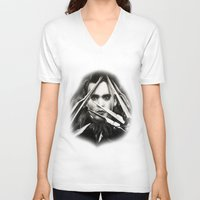 edward scissorhands V-neck T-shirts featuring Edward Scissorhands by Whitney Wilkinson