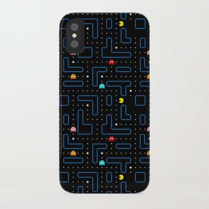Pac Man Retro Arcade Gaming Design Iphone Case By Pttrn Society6