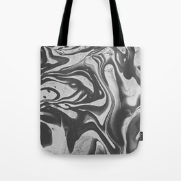 Black Liquid I Tote Bag