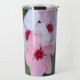 Blooming Beautiful Pink Impatiens Flowers Travel Mug