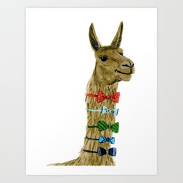 Party Llama Art Print