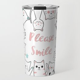 Please Smile T-shirt For the Cat lovers Travel Mug
