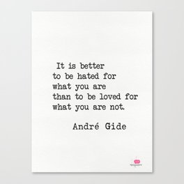 André Gide quote Canvas Print