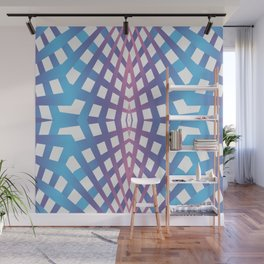 Abstract geometric line design Wall Mural