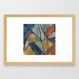 All the Cards mixed media abstract Framed Art Print