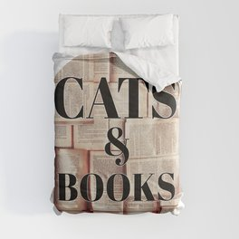 Cats and Books Comforters