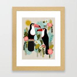 Toucans by Andrea Lauren  Framed Art Print