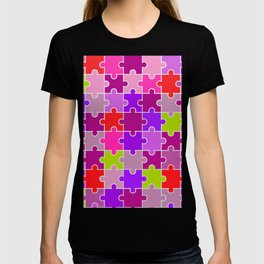 Colorful Pink and Purples Jigsaw Puzzle T-shirt