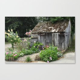 English Garden Shed Canvas Print