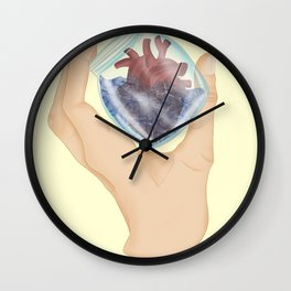 Move On Without Regrets - Heartbroken Illustration Wall Clock