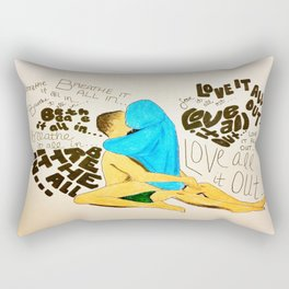 Love it all out Rectangular Pillow