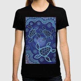 Aboriginal Art Authentic - Sea Turtles T-shirt