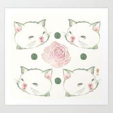 Cat's Waltz 고양이 왈츠 Art Print