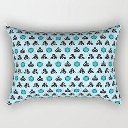 Curious Cyan Rectangular Pillow