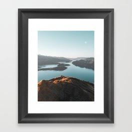 Roys Peak New Zealand Framed Art Print