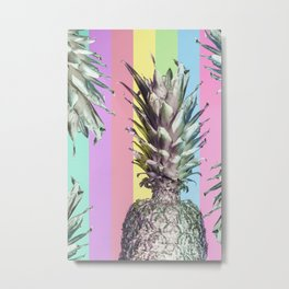 Pineapple Top Metal Print