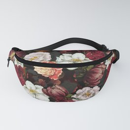 Vintage & Shabby Chic -Midnight Botanical Night Flower Garden  Fanny Pack