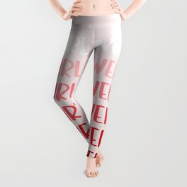girl power gradient Leggings