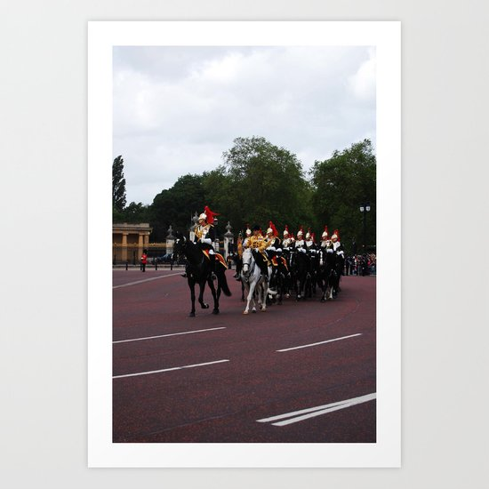 The Guards with their Horses Art Print