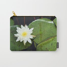 A Single Water Lily Carry-All Pouch