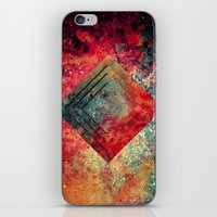 square iPhone & iPod Skins featuring Random Square by Esco